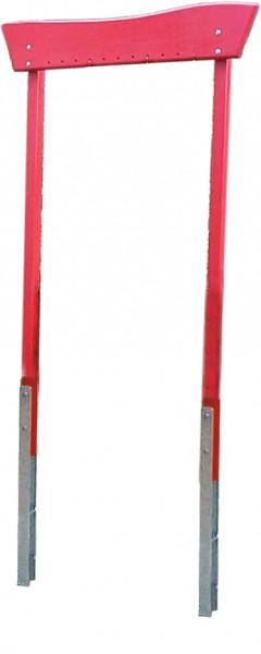 Holzrahmengestell rot lasiert o. Instrumente