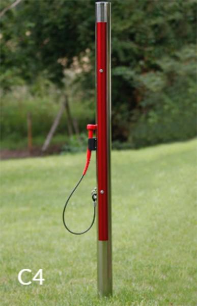 Outdoor Farbklangröhre - Einzeln, zum einbetonieren