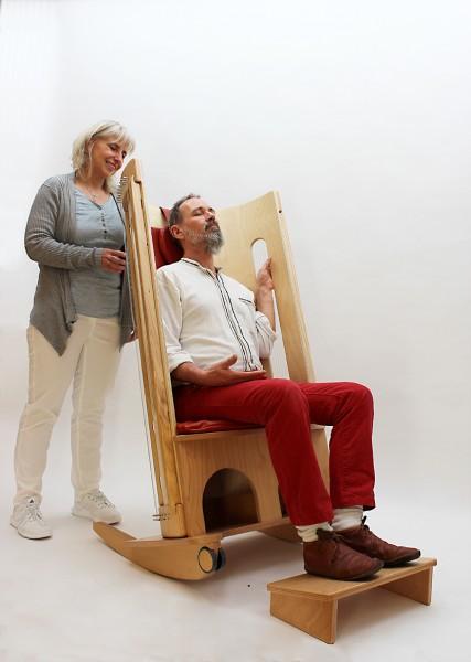 Allton Klangschaukelstuhl Pflege-Set, Höhe 140, rollbar
