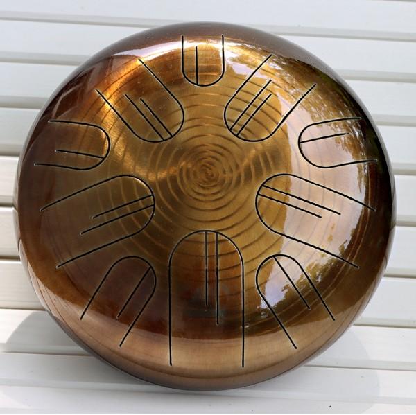 Mandalafon Golden Galaxy, Stahlzungentrommel lackiert, 30cm, A-moll Triton