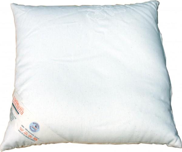 Hirsespreu-Kissen 40x40 cm, Lagerkissen Bamwollinlett für Klangwiege oder Klangschalen