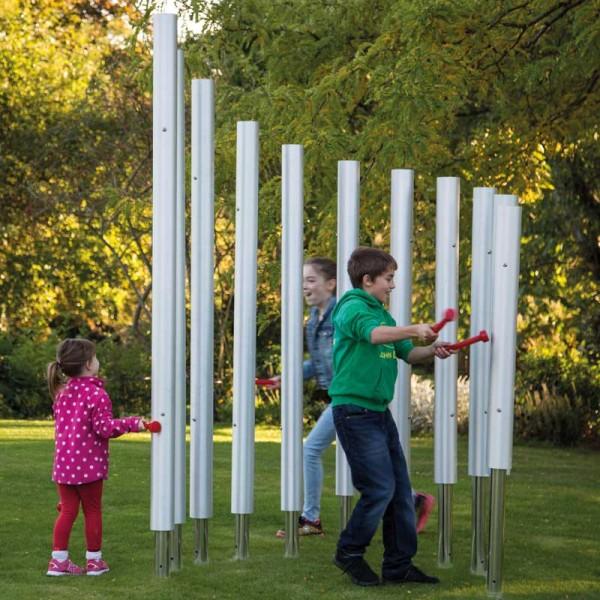 Outdoor-Klangobjekt: Colossus Chimes, zum einbetonieren