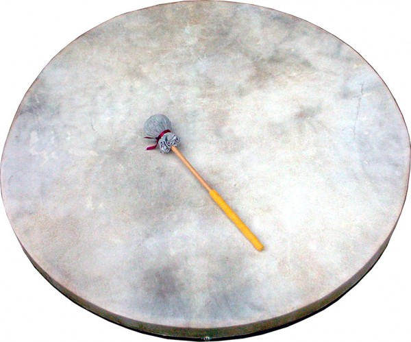 Schamanentrommel XXL, 76 cm, extraleichte Rahmentrommel aus Pakistan 7