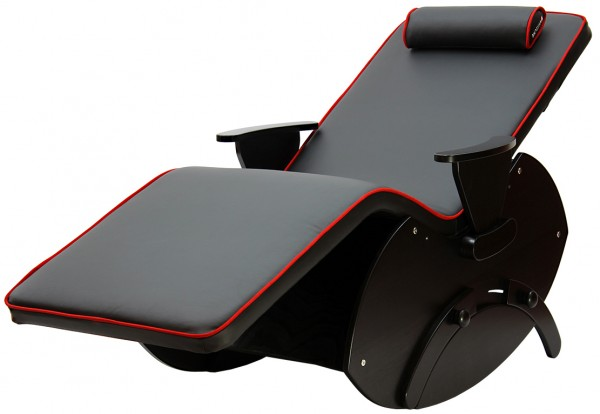 MuseLounger Luxury, Modell: Vario, mit Armlehnen, schwarz