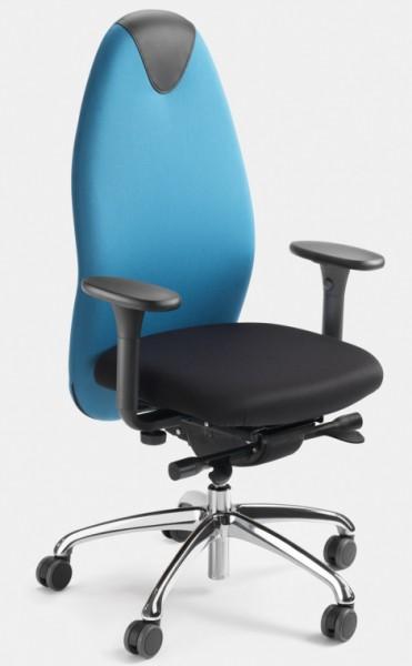 Tango Bürodrehstuhl mit allseits beweglicher Sitzfläche (ERGOTOP-Technologie) , mit hoher Rückenlehn