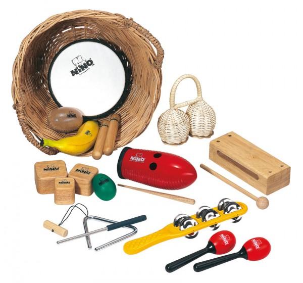 NINO Percussion Set, 15 Instrumente im Körbchen