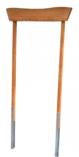 Holzrahmengestell Kiefer/ Douglasie, rot lasiert 122x194x12