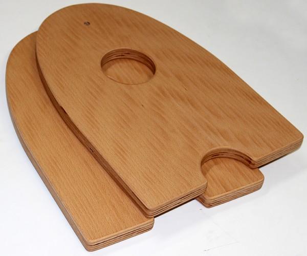Monochordfüßchen Paar large, mit Holzschraube für Allton Monochord