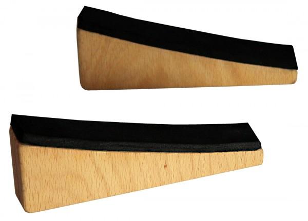 Fixierkeile für Klangschaukelstuhl, mit Gummiauflage