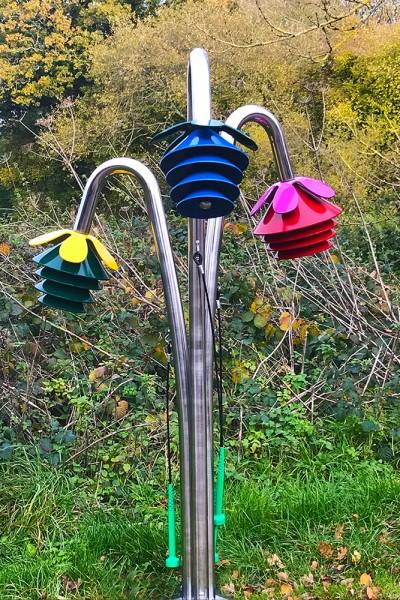 Outdoor Gockenblume Harmony, 3-er Set Dur zum einbetonieren