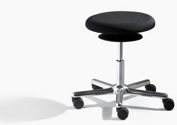 Rollhocker mit allseits beweglicher Sitzfläche (ERGOTOP-Technologie) von Löffler