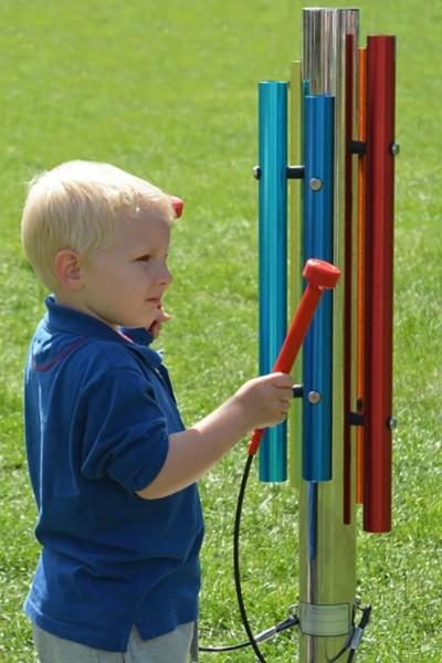 Outdoor Farbklangröhren-Spielstation zum einbetonieren