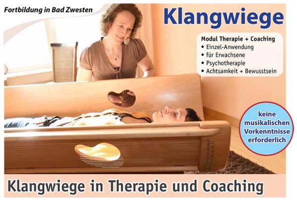 Klangwiege-Fortbildung, Modul: Klangwiege in Therapie + Coaching mit Anke Wiesbrock