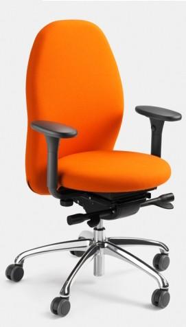 Bürodrehstuhl Tango mit allseits beweglicher Sitzfläche (ERGOTOP-Technologie) von Löffler, mit Armle