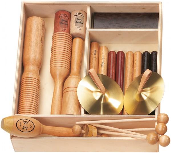 Rohema Orff-Set 2, 13 Instrumente in Holzbox