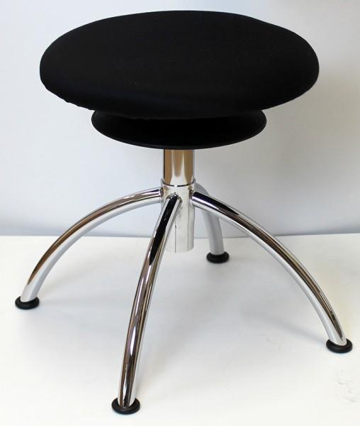 Ergohocker ohne Rollen mit allseits beweglicher Sitzfläche (ERGOTOP-Technologie) von Löffler