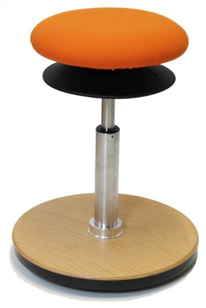 Ergohocker, Bodenwipper M, mit allseits beweglicher Sitzfläche (ERGOTOP-Technologie) von Löffler