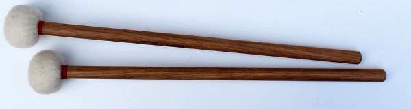 Filzschlägel, weich, 46 mm, Holzstiel