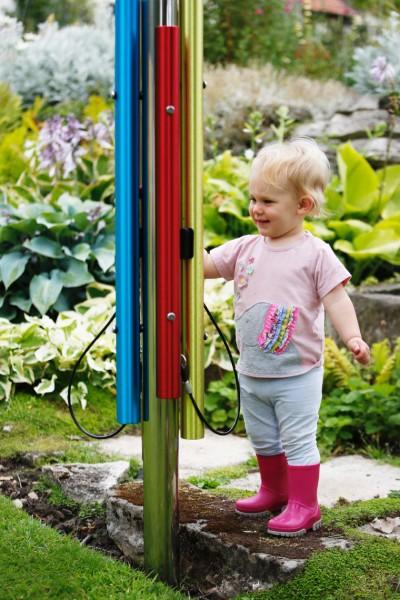 Outdoor Farbklangröhren-Spielstation, 4 Röhren, zum einbetonieren