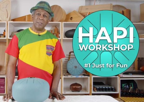 Hapi-Drum Online-Workshop, 180 Minuten mit Allan Poteon